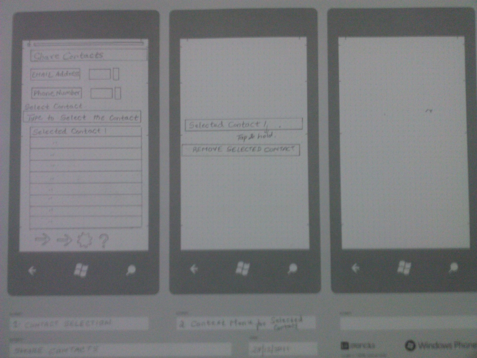 UI Stencils and my Share Contacts Windows Phone App