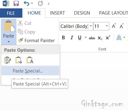 How to Invert Text in Microsoft Word 2013?