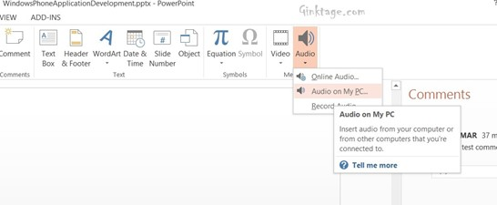 How to Add Audio to Presentation in Microsoft PowerPoint 2013?