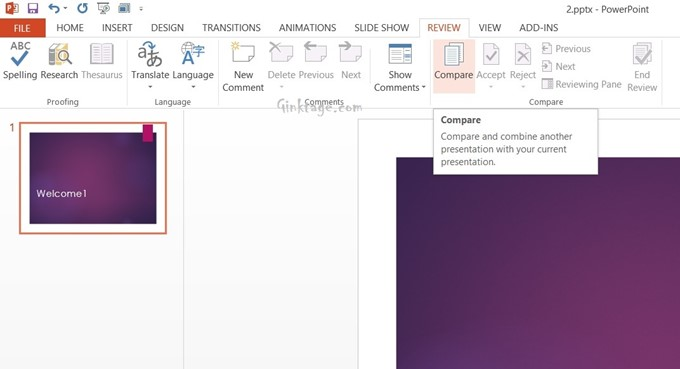 How to Compare Two PowerPoint 2013 Presentations?