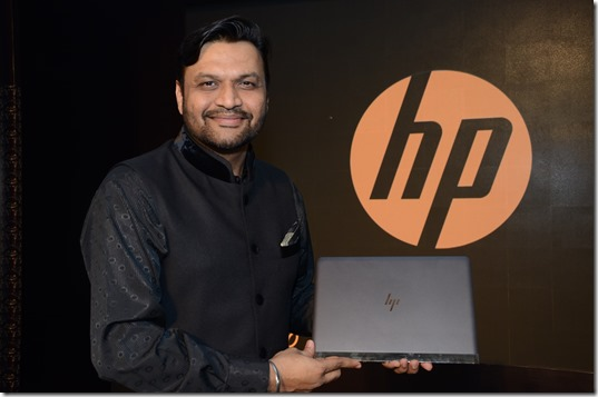 Ketan Patel - Director, Personal Systems Business, HP Inc. India with HP Spectre 13, World's Thinnest Laptop
