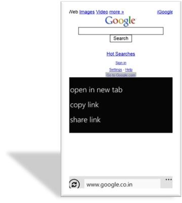 How to Share a Link from a Webpage in Windows Phone?