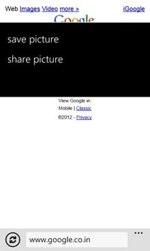 How to Save or Share Picture from a Webpage in Windows Phone?