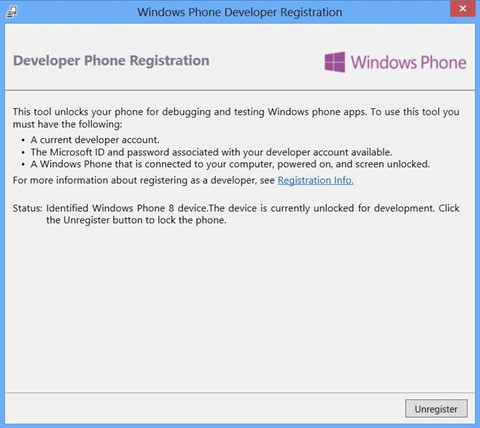 How to unlock your Windows Phone 8 for development and deploying apps?