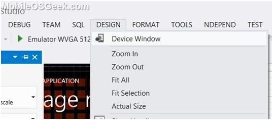 How to Change the Windows Phone Emulator settings in Visual Studio 2012 for testing the App ?