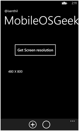 How to get the Scaled Resolution of Windows Phone 8 using C# ?