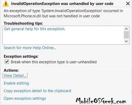 InvalidOperationException - You can only use State between OnNavigatedTo and OnNavigatedFrom