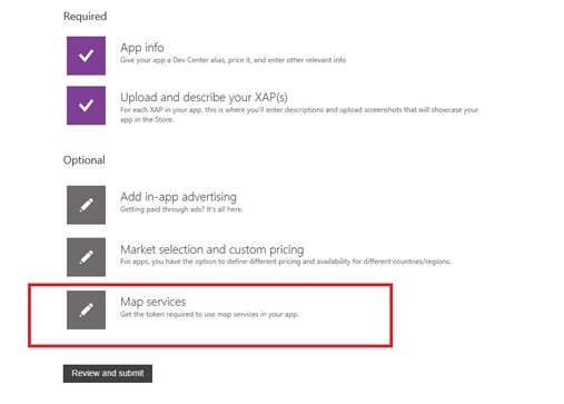 How to Obtain & apply ApplicationId and AuthenticationToken for Map Control in WP8?