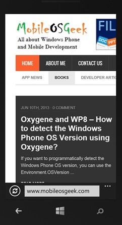 How to navigate to an External URI using WebBrowserTask in Windows Phone 8?