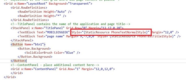 Oxygene and WP8 - XAML Overview