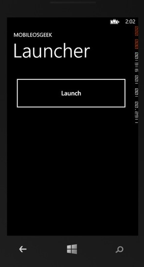 Oxygene and WP8 - ConnectionSettingsTask Launcher