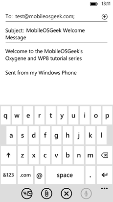 Oxygene and WP8 - EmailComposeTask Launcher
