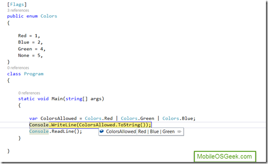 C# Tips and Tricks #3 - [Flags] attribute for Enum in C#