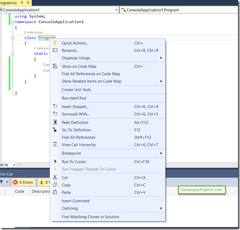 Visual Studio 2015 Tips and Tricks-Touch Support