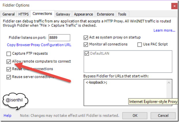 How to Capture the Windows Mobile 10 Network Traffic with Fiddler?