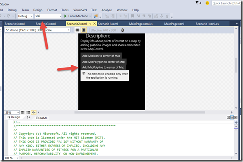 """Visual Studio 2015 - The name """"MapControl"""" does not exist in the namespace """"using:Windows.UI.Xaml.Controls.Maps"""""""