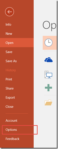 How to change default view of presentation in PowerPoint ?