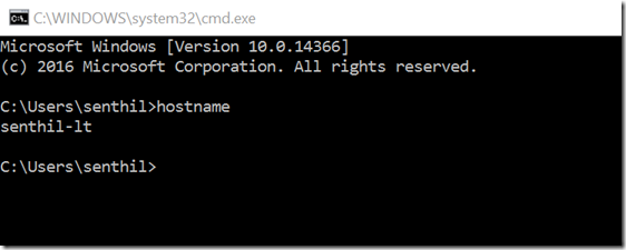 How to find the Windows OS Build version from Command Line in Windows 10 ?