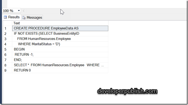 How to view the code of a stored procedure using a Query in SQL Server ?