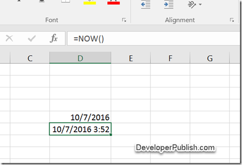How to Display the Current Date in a Cell in Microsoft Excel ?