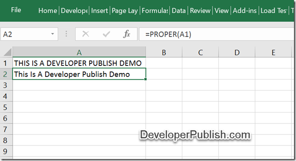 How to Change the uppercase string to title case in Microsoft Excel ?