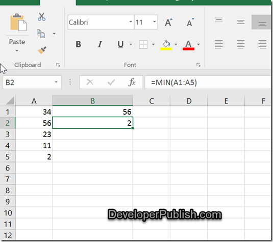 How to retreive the highest or lowest value in Microsoft Excel ?