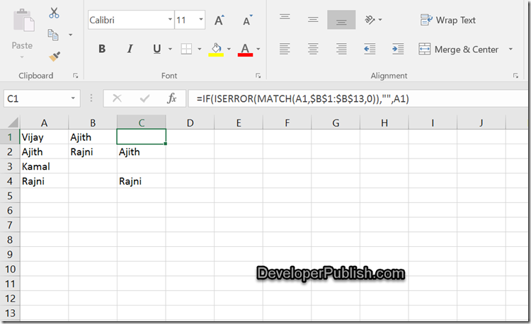 How to find duplicate values in multiple columns in Excel 2016?
