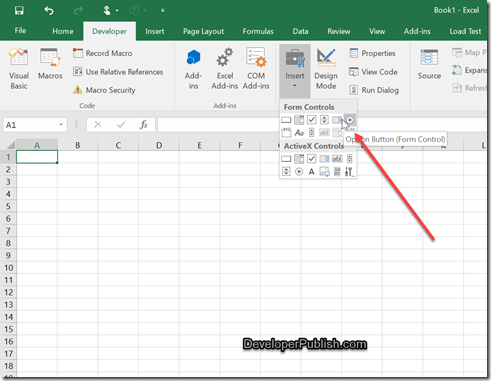 How to insert radio buttons in Microsoft Excel ?