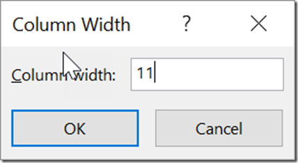 Setting the Column Width and Row Height for a range of Cells in Microsoft Excel