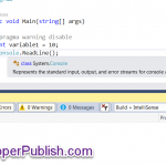 C# Tips and Tricks #8 - Disable specific compiler warnings in Visual Studio