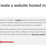 Azure Tip #2 - Learn Azure with Free Sandbox Subscription