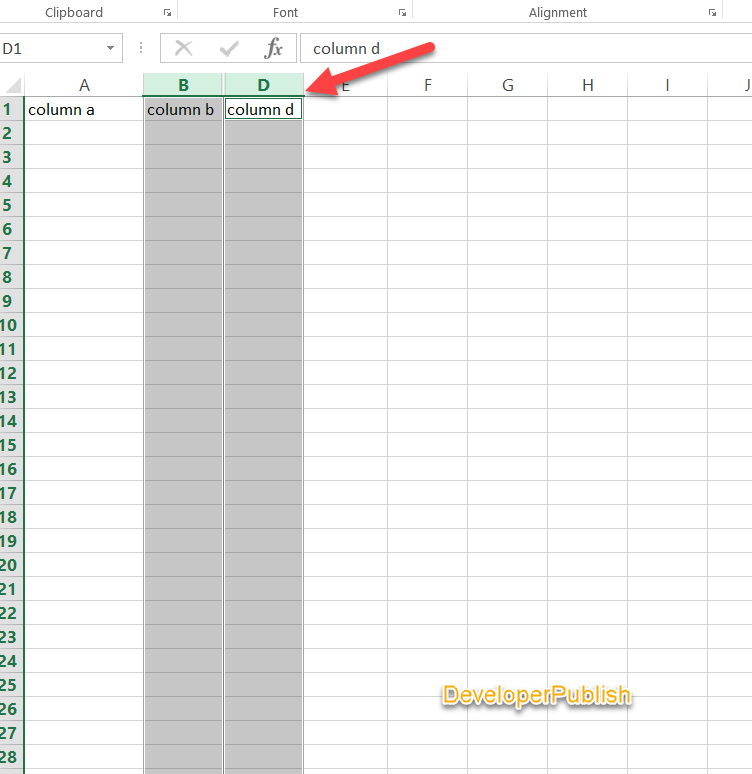 How to Hide Columns or Rows in Excel ?