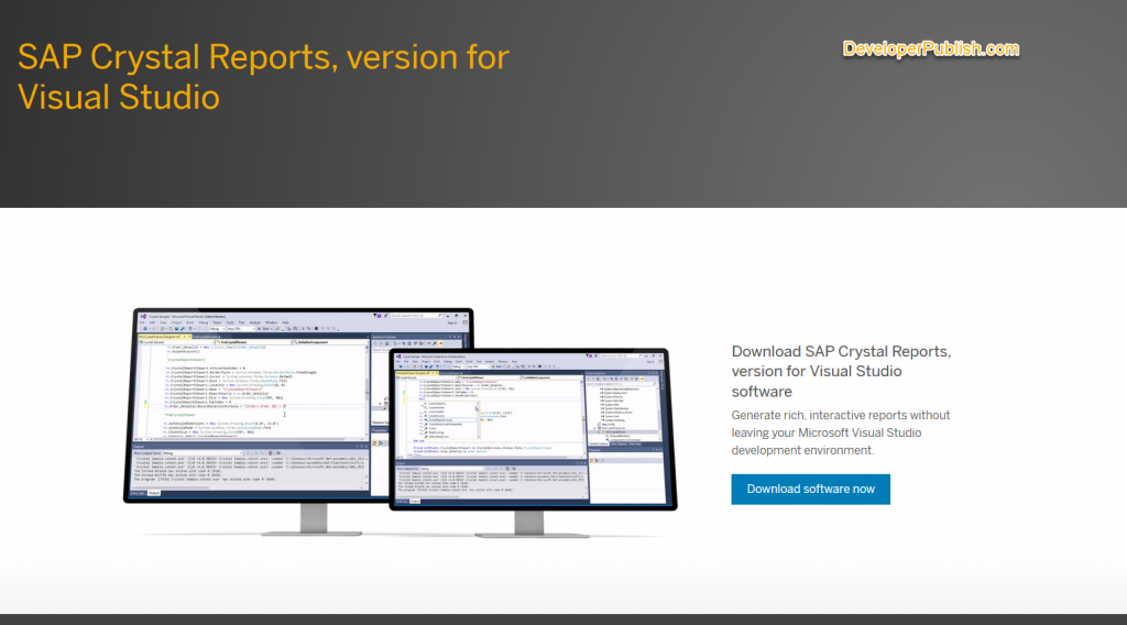Download Crystal Reports for Visual Studio 2019