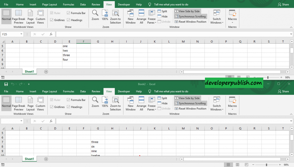 How to view multiple Excel workbooks at the same time?