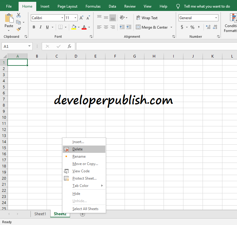 How to insert or delete or rename a worksheet in Microsoft Excel?