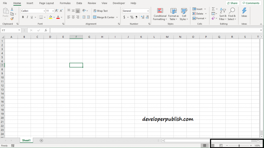 How to Zoom in and Zoom out in MS Excel?