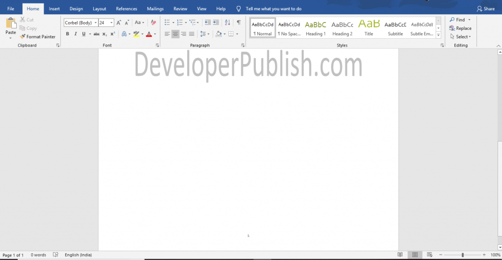 How to Insert Page Numbers in Microsoft Word ?