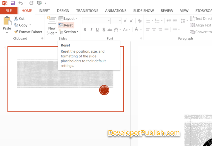 How to Reset the Layout Changes in PowerPoint?