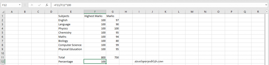 Advanced Percentage Calculation in Excel Using Formula