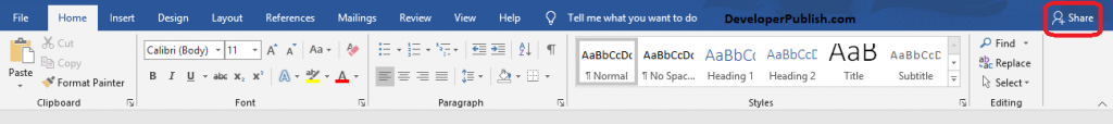 How to Share Document in Microsoft Word?