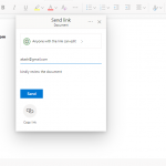 Share a document in Microsoft Word