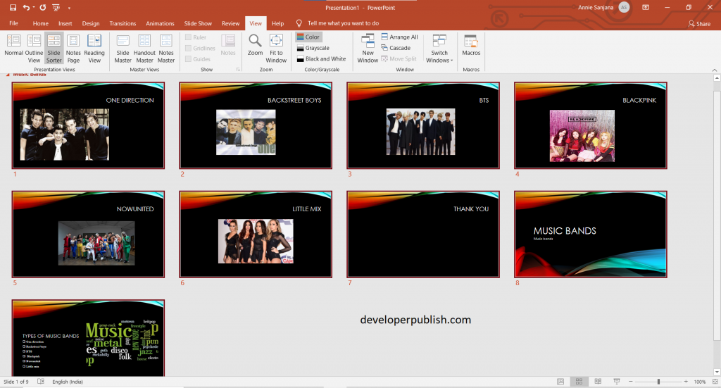 How to Organize your PowerPoint slides into sections ?