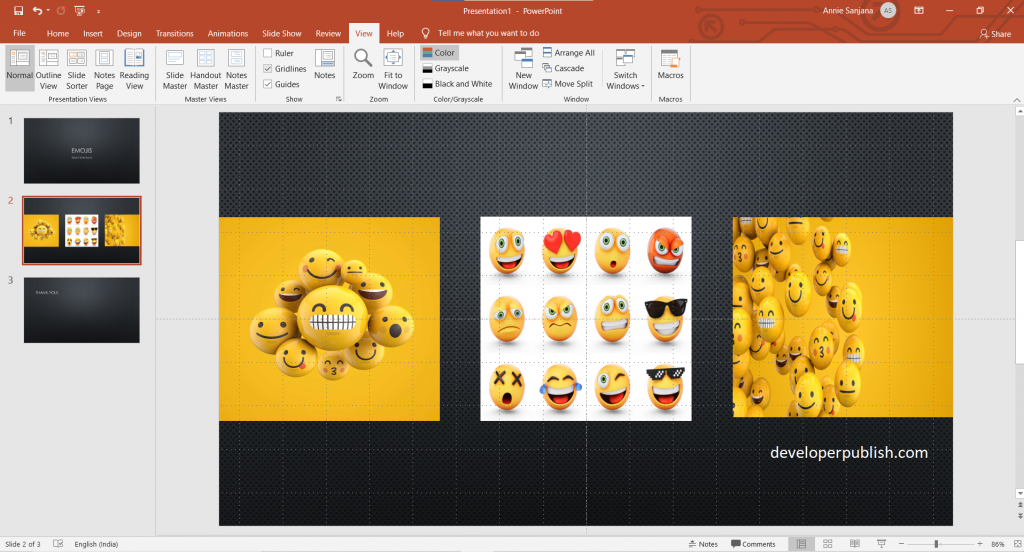 Options for Arranging objects in PowerPoint