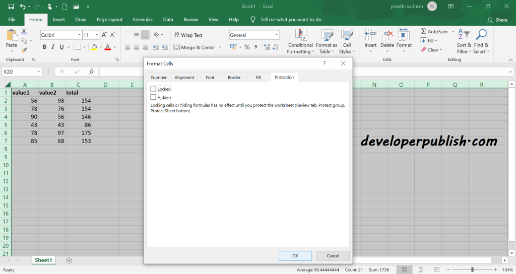 Lock Cells in Microsoft Excel