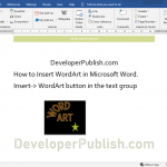 How to Insert WordArt in Microsoft Word?