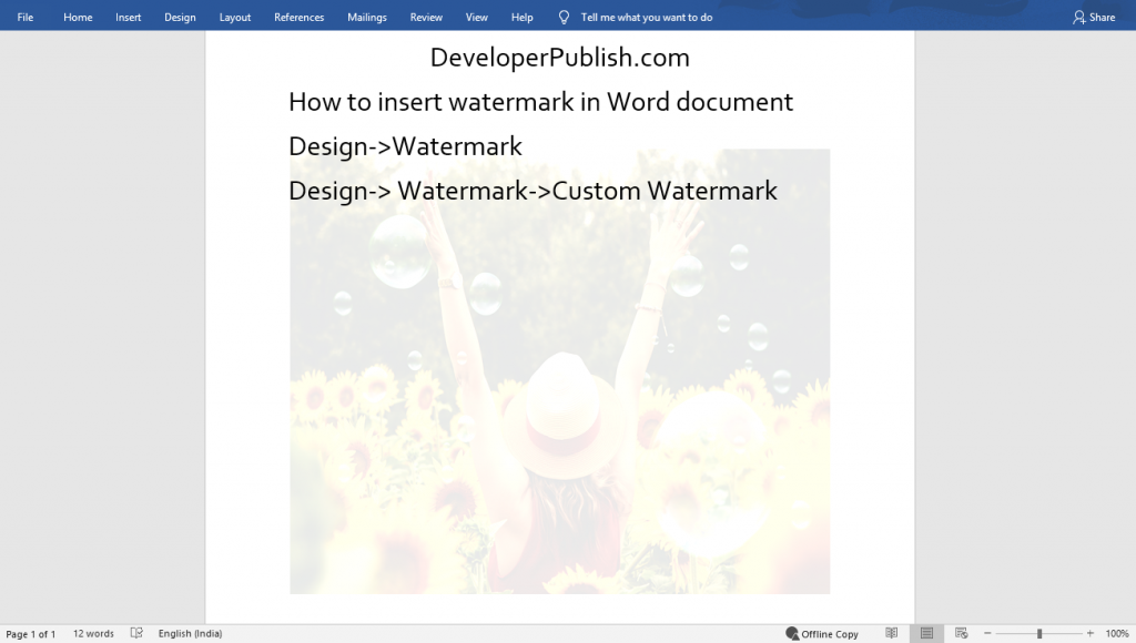 How to Insert Watermark in Microsoft Word?
