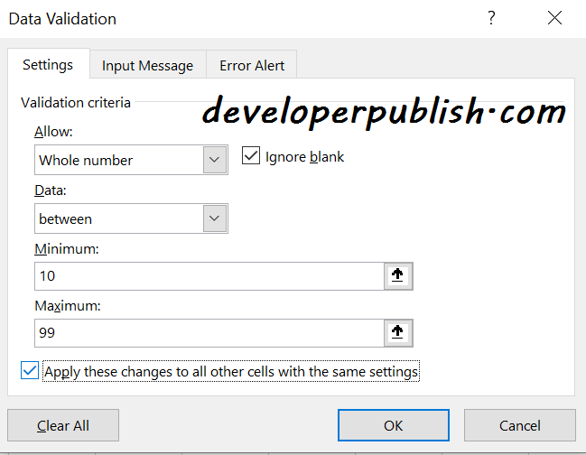 Remove Data Validation from Microsoft Excel