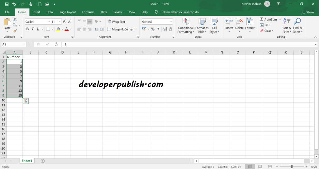 Enable fill handle and cell drag-and-drop in Excel
