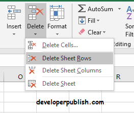 Delete Blank Rows using GoTo Special in Excel