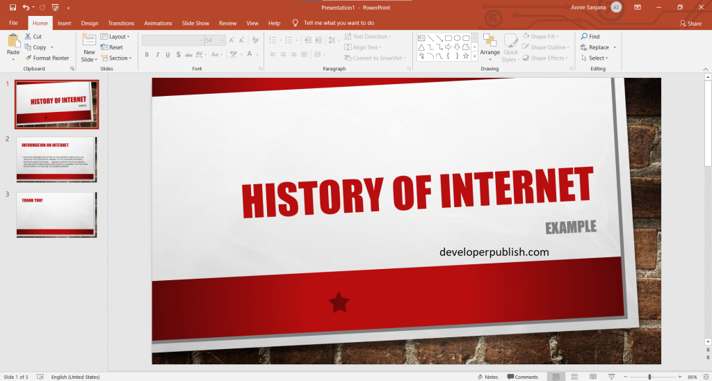How to insert Add a hyperlink to a slide in PowerPoint ?